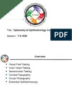 Optometry and Opthalmology