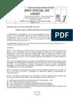 10.05.16 DOU Decreto Federal 8752 Política Nacional Formação Profissionais Educação Básica