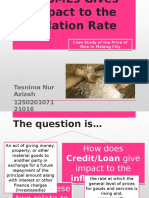 How Credit or Loan to SMEs Gives Impact to the Inflation Rate