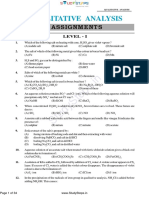 Qualitative Analysis Chemistry Physical Question Bank