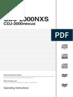 CDJ 2000NXS Manual