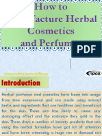 How to Manufacture Herbal Cosmetics and Perfumes