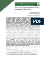 Revisão Integrativa das Publicações sobre o tema Economia Solidária nos últimos dez anos
