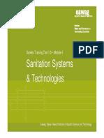 EAWAG SANDEC 2008 Module 4 Sanitation Systems and Technologies - Presentation