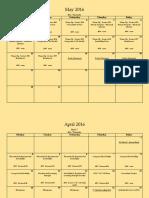 mth 7 assignment calendar