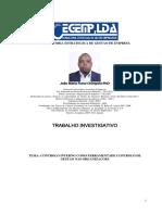 CONTROLO INTERNO COMO FERRAMENTADE CONTROLO DE GESTÃO NAS ORGANIZACÕES -  João Maria Funzi Chimpolo