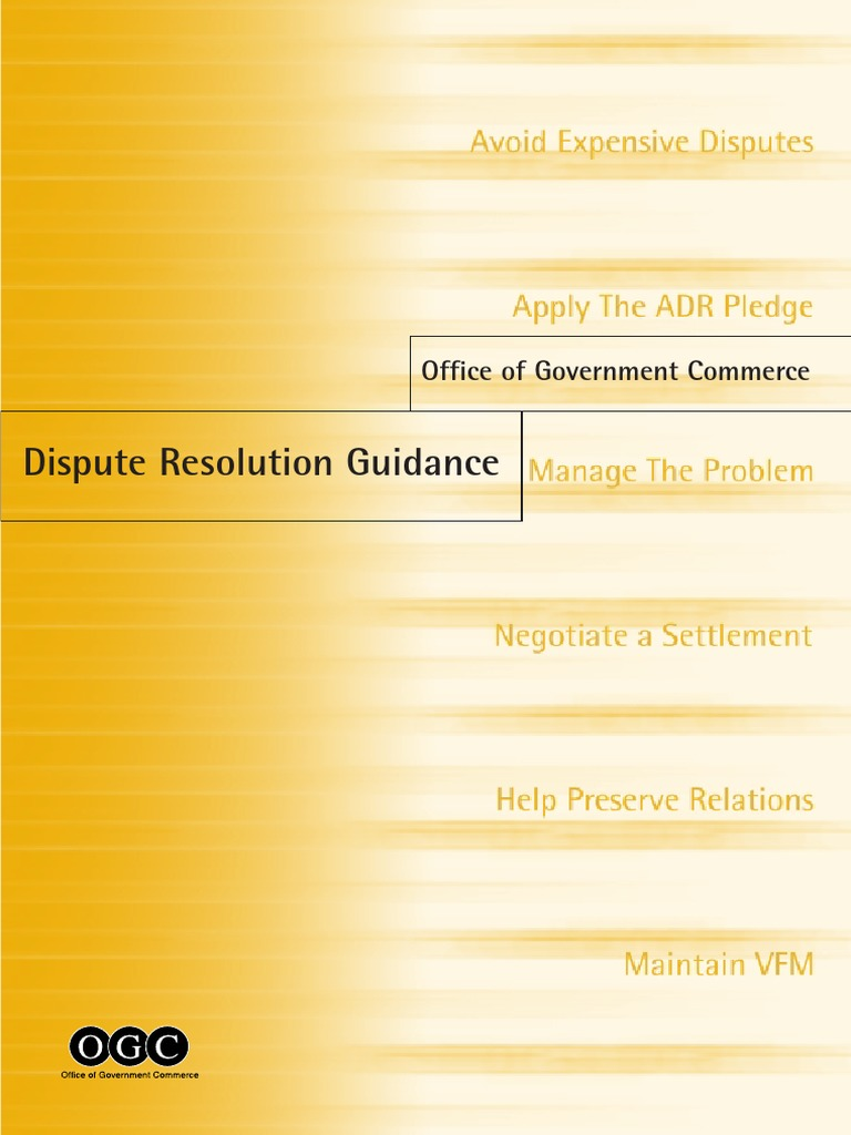 ogc dispute resolution guidance mediation alternative dispute ogc dispute resolution guidance mediation alternative dispute resolution