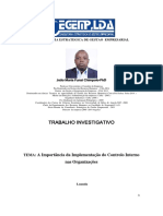 A Importância da Implementação do Controlo Interno nas Organizações -  João Maria Funzi Chimpolo
