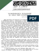 Dumitru Staniloae - Dumnezeiasca Euharistie in Cele Trei Confesiuni