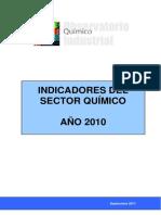 Informe de Indicadores Sector Quimico 2010