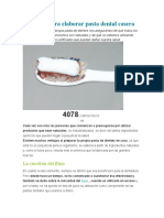 Receta Para Elaborar Pasta Dental Casera