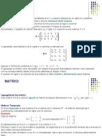 Richiami Di Algebra Matriciale