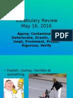 vocabulary review 5-16-16