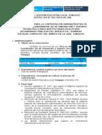 Para Coordinador de Innovacion y Soporte Tecnologico Cas 001