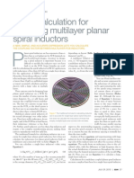 A New Calculation for Designing Multilayer Planar Spiral Inductors