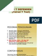t Test Dependent