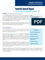 How to Craft a Powerful Annual Report - CAPI Issue Brief