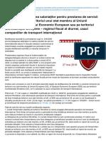 juridice.ro-Detaşarea şi delegarea salariaţilor pentru prestarea de servicii transnaţionale pe teritoriul unui st