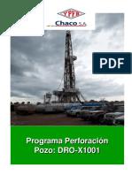 Programa de Perforación DRO-X1001 (Final)