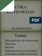 MATERI ETIKA KEPERAWATAN