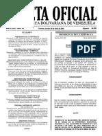 Gaceta Oficial Número 40.890 26-ABR-2016 Resolución Días No Laborables