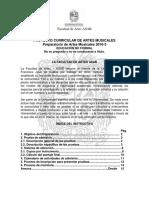 Instructivo Admisiones 2016-3 Preparatorio Artes Musicales
