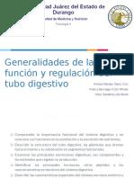Generalidades de la función y regulación del tubo digestivo