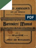 1934 Harry Johnson's Bartenders' Manual