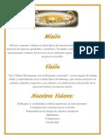 Misión, Visión y Valores_El Rincón de Dgo