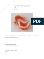Lecture Notes on Prosthetics Dentistry