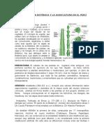 Historia de La Botanica y La Agricultura en El Peru