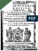 Direttorio Monastico Di Canto Fermo - Banchieri Adriano