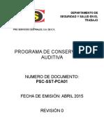 Programa de Conservacion Auditiva