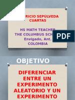 EXPERIMENTO ALEATORIO - DETERMINISTA