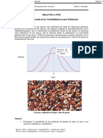 PRÁCTICA 5. Determinación de La Variabilidad en Una Población