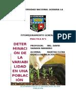 Fitomejoramiento General.practica5 Determinacion de La Variabilidad en Una Población.grupo G.qqueLLON