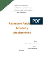 Patrimonio Ambiental, Artistico y Arquitectonico