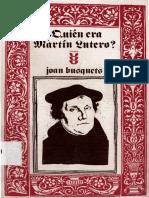 BUSQUETS Joan Quien Era Martin Lutero Salamanca 1986