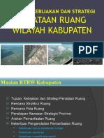 Penyusunan Tujuan Kebijakan & Strategi RTRW Kabupaten