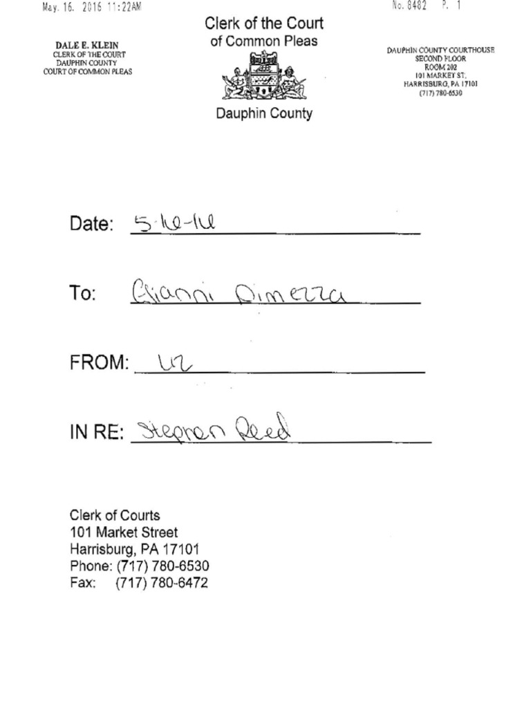 Court of Common Pleas order: Stephen R  Reed | Theft | Crimes