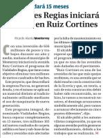 14-05-16 Vialidades Regias iniciará mañana en Ruiz Cortines