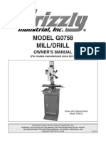 Grizzly G0758 Mill-Drill Manual