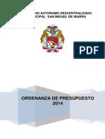 Presupuesto 2014 Imprimir Aprobado