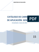 Catalogo General de Carreras Mar2015