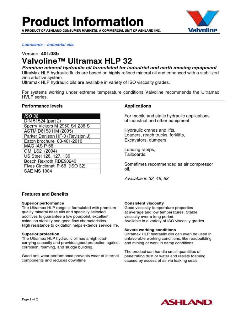 PI_Ultramax-HLP-32_401-08b (4) | Lubricant | Motor Oil
