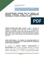 A+ç+âO REVISIONAL CC PEDIDO DE ANULABILIDADE DE CL+üUSULAS CONTRATUAIS CC DEVOLU+ç+âO DE QUANTIAS PAGAS INDEVIDAMENTE  MARLON  X AYMOR+ë  CREDITO E FINANC
