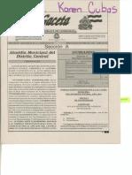 Reglamento de Zonificacion 2014, Honduras