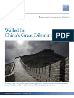 Walled-in China's Great Dilemma