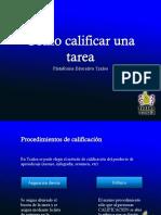 Tutorial Calificar Tareas en Tzaloa