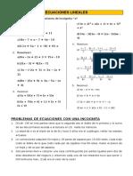 Practica de Ecuaciones Lineales_2015